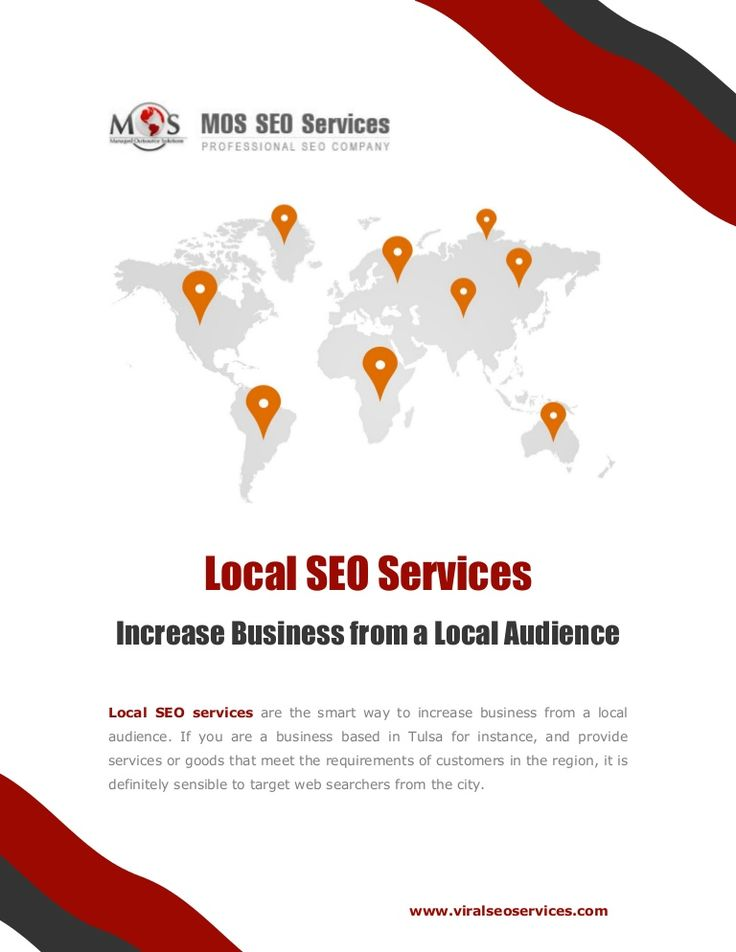 Local SEO Services - Increase Business from a Local Audience: #LocalSEOservices help you increase your reach among customers in your city or state and ensure great results.