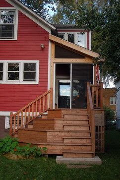 Two Story Decks With Stairs | Two Story Addition   Traditional   Porch    Chicago