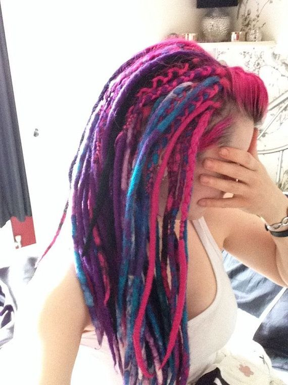 Full set of handmade double ended wool by CatladysCurios on Etsy. This is who is doing my dreads they were posted yesterday I cant wait xx
