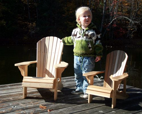 Junior Size Adirondack Chair Plans by TheBarleyHarvest on Etsy