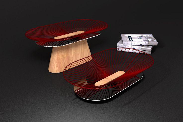 Centre de table Sunset - recherche créative jocelyn deris