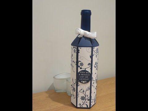 CraftyCarolineCreates: Wine Bottle Gift Box Tutorial - Using Flowering Flourished by Stampin' Up