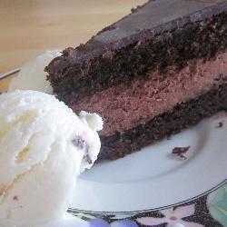 Chocoladetaart met vulling en glazuur @ allrecipes.nl