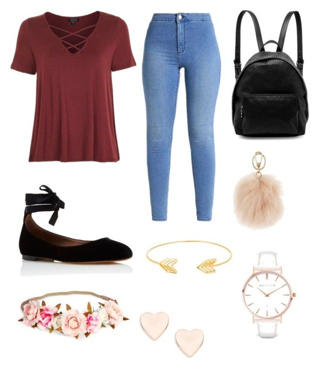 """School outfit"" by mari4 on Polyvore featuring Topshop, Tabitha Simmons, STELLA McCARTNEY, Furla, Lord & Taylor, Ted Baker and Abbott Lyon"