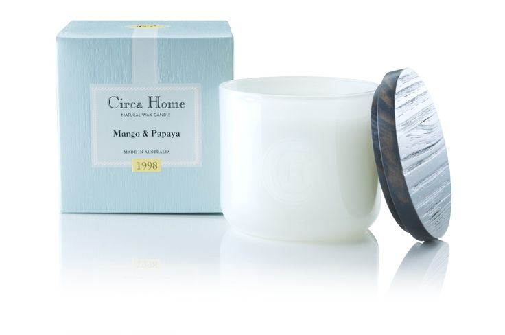 Circa Home- Mango & Papaya Natural Wax Candle (for summer)