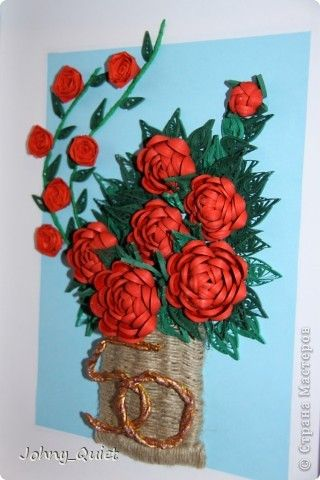 Paper quilling rose flower basket akbaeenw paper quilling rose flower basket innas creations how to fold mightylinksfo
