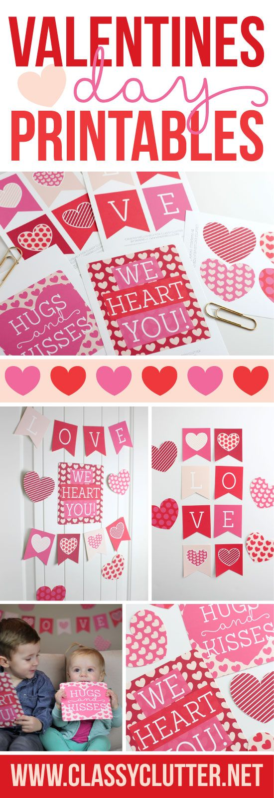 Such an adorable Valentines Day Printable! The girls loved waking up to this cute printable on their wall! Click to get your free printable