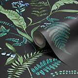 Graham & Brown Julien Macdonald Honolulu Palm Green Foliage Glitter Effect Wallpaper | Departments | DIY at B&Q