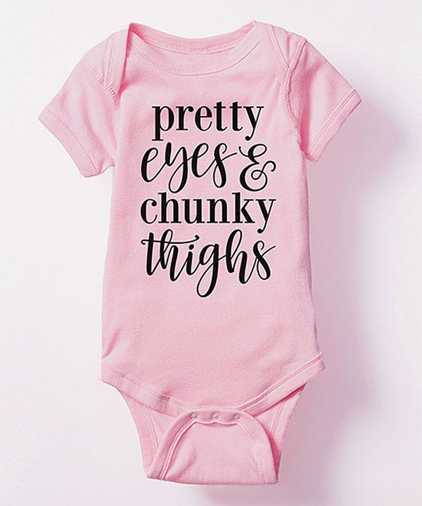 Look at this KidTeeZ Light Pink 'Pretty Eyes' Bodysuit - Infant on #zulily today!