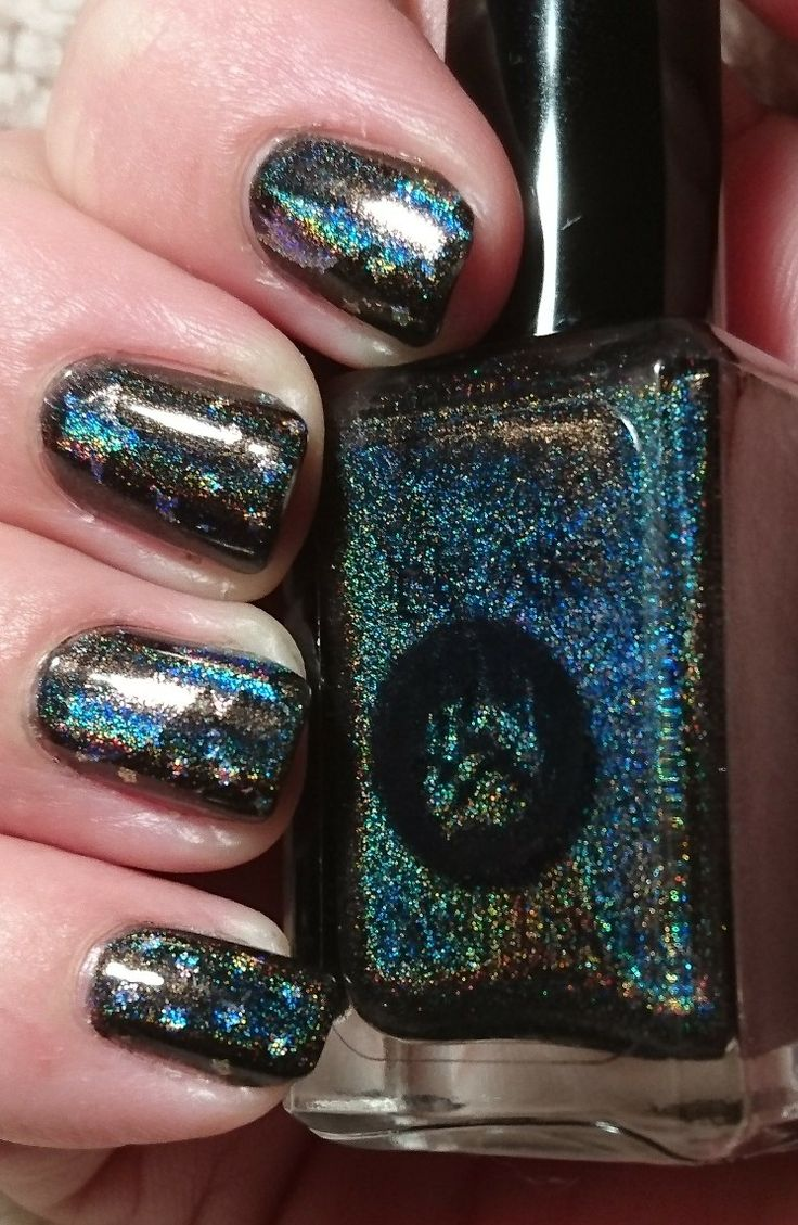Bear pawlish super natural stamped with glitter daze starlit with light 💡