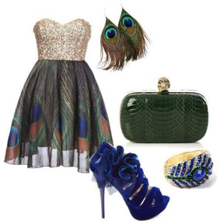 17 Best images about Peacock Fashion on Pinterest   Hand ...