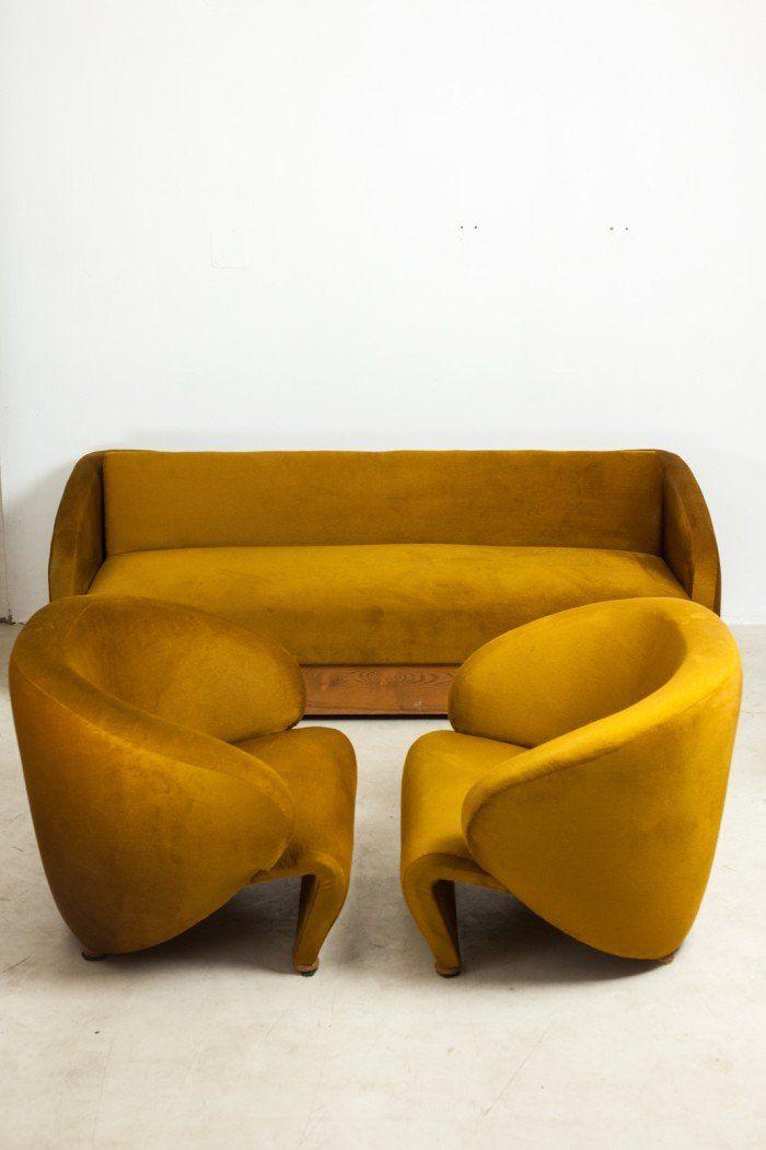 RARE SOFA SET | Rare Sofa Set Designed by Sándor Bedécs | www.bocadolobo.com/ #luxuryfurniture #designfurniture