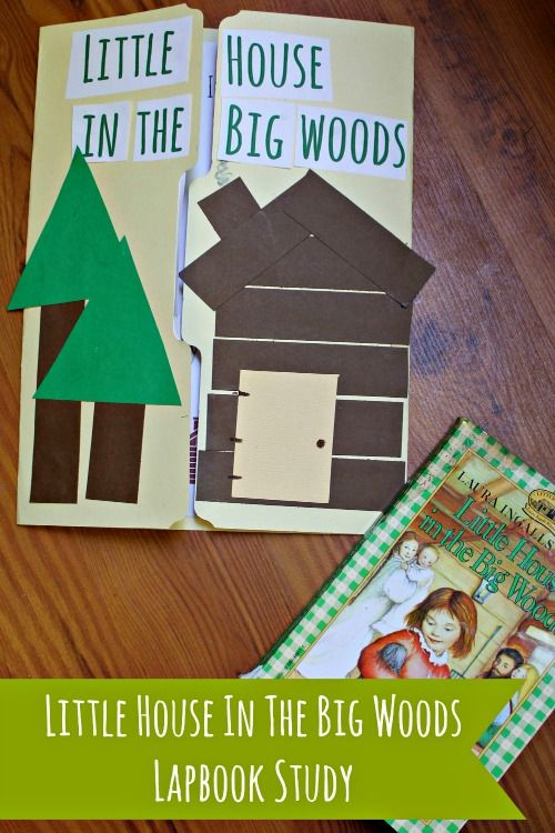 Little House in the Big Woods Lapbook - Little House Living | Homeschool Preschool Printable