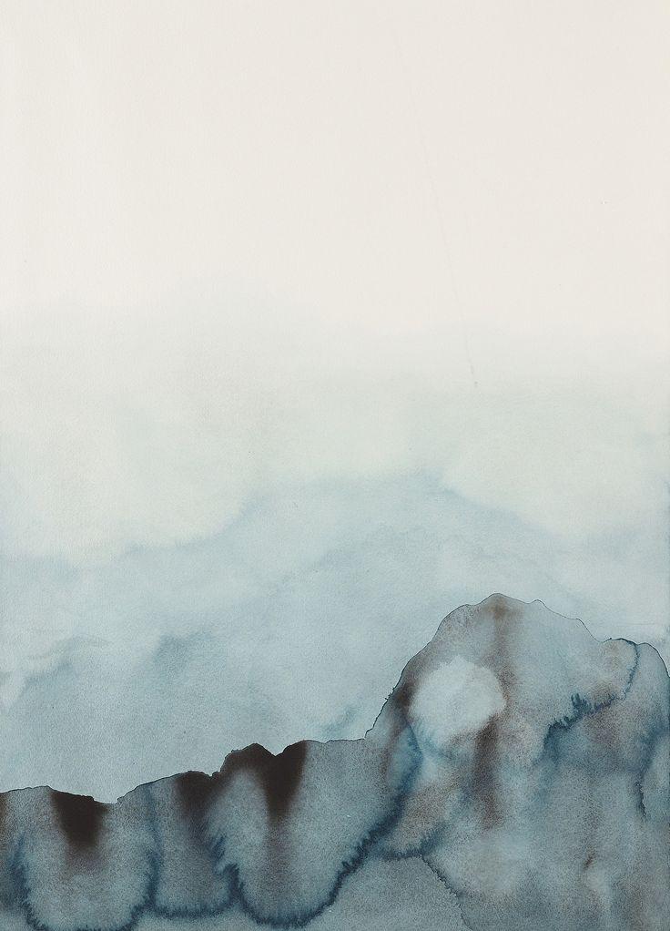 LEIF PALMQUIST, Dika Ljus 2, Sweden 2014. Watercolor on paper.