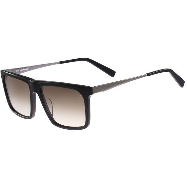 Karl Lagerfeld Women's Plastic Flat Top Sunglasses ($50) ❤ liked on Polyvore featuring accessories, eyewear, sunglasses, karl lagerfeld sunglasses, karl lagerfeld eyewear, karl lagerfeld and karl lagerfeld glasses