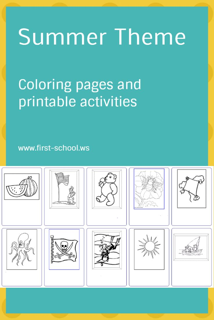 16 best Coloring Pages and Printable Activities Preschool-2nd Grade ...