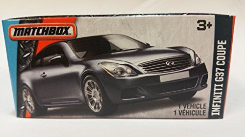 Matchbox 2016 MBX Adventure City Infiniti G37 Coupe [Silver] #32/125 in Limited Edition Rare Box