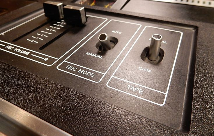 Closeup of the Sony TC-121 cassette deck.