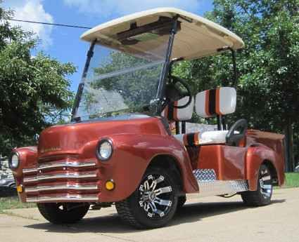 Used 2014 Gcw 47' Old Truck Custom Club Car Golf Cart ATVs For Sale in Illinois. Looking to travel the golf course in style? Search no more! This luxurious 47' Old Truck Custom Club Car Golf Cart offers you a stylish comfortable ride around the course. This high quality electric golf cart has so many great features, it's too hard to pass up. Take a look below and you'll notice that you won't find a better deal than this. This cart has been inspected by an authorized Club Car Technician, and…