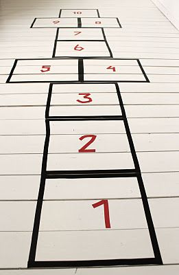 Hopscotch with Washi Tape
