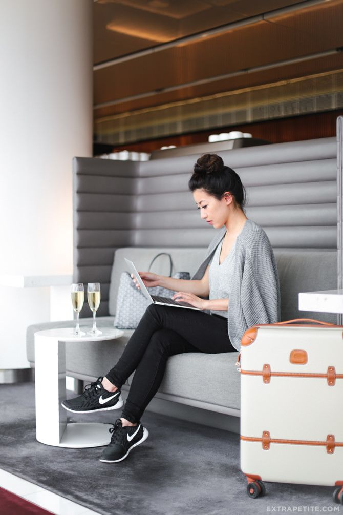 ExtraPetite.com - BOS to HKG direct // travel outfits   beauty tips for a long flight