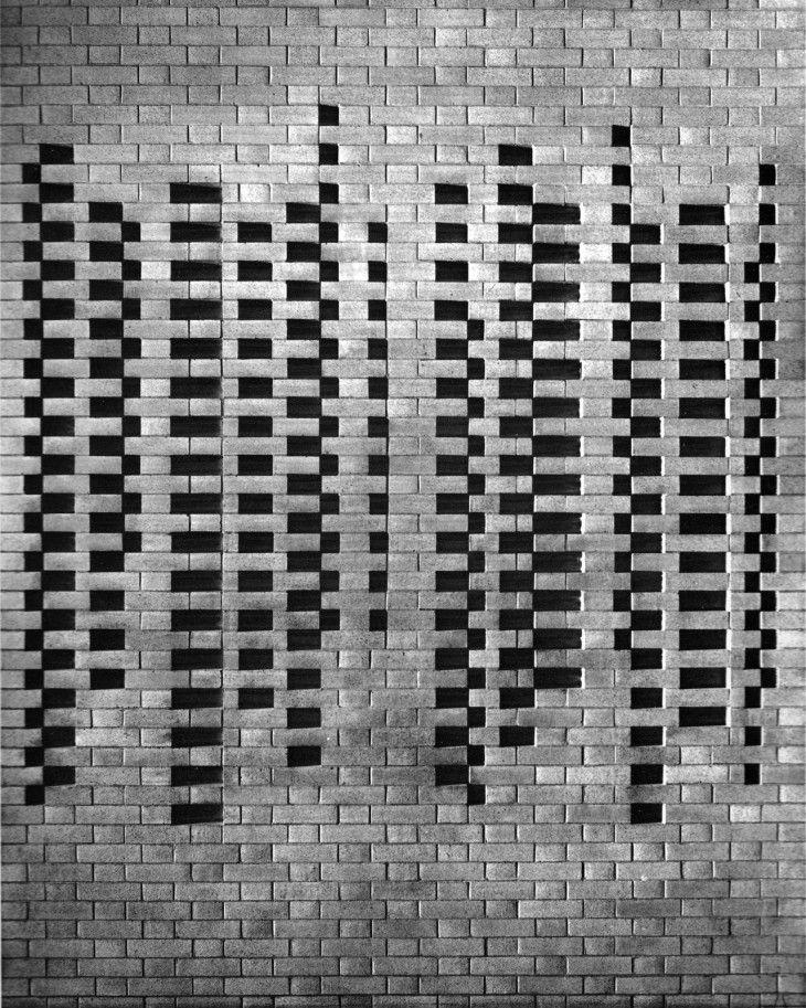 Brick Wall Detail.  Josef Albers.Harvard University, Cambridge, Massachusetts, USA. 1950.