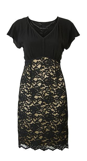 #Dames #Jurk #V-hals #Zwart #Kant #Outfit