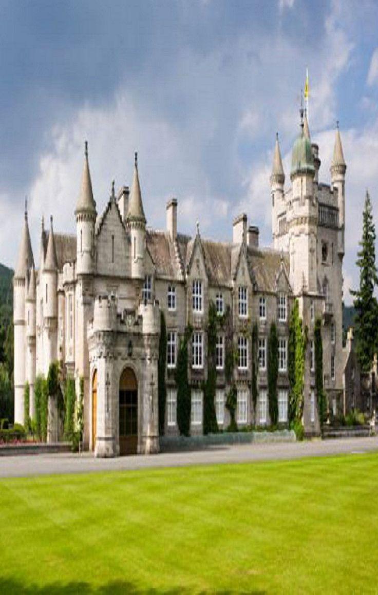 El castillo de Balmoral en Escocia. Hogar escoc de la reina Elizabeth II de HM