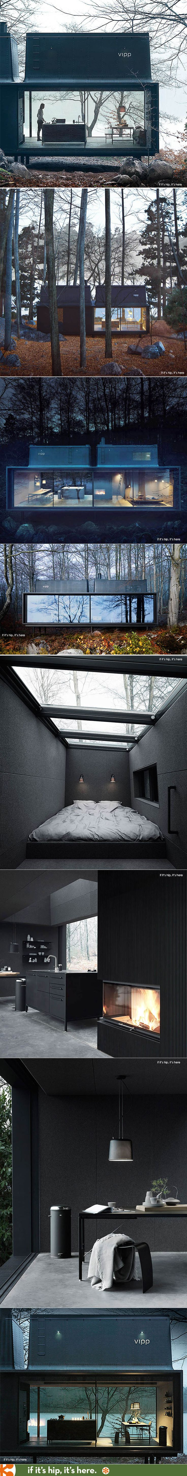 Visions of the Future // The Vipp Shelter is a prefab structure loaded with Vipp products. | http://www.ifitshipitshere.com/the-vipp-shelter/