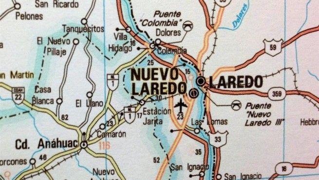 Nuevo Laredo Mexico  Laredo TX  EFE Mapas de Mxico SOLO USO