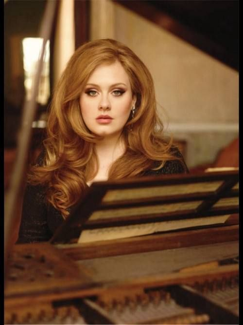 adele - everything about her is stunning. I want the hair and the makeup NOW! <3