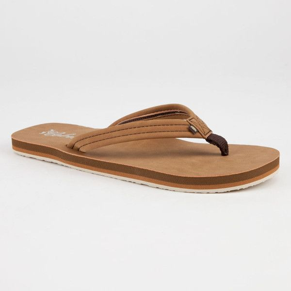 Cobian Pacifica Womens Sandals ($30) ❤ liked on Polyvore featuring shoes, sandals, flip flops, tan, cobian shoes, cobian sandals, vegan shoes, tan shoes and cobian flip flops