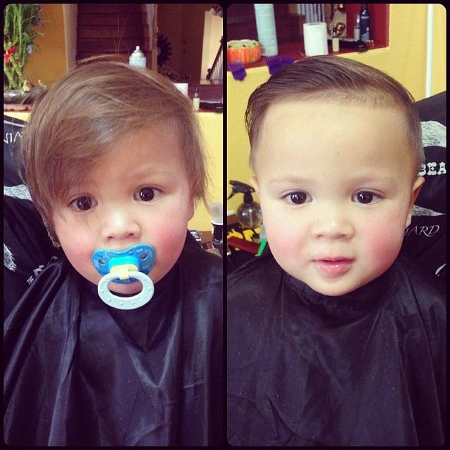 1 Year Old Connor S First Haircut Combover Lidobaby Babyhair Babycut Younglad Cleanedup Clipped Clippakween Toddler Boy Haircuts Baby Boy First Haircut Baby Boy Hairstyles