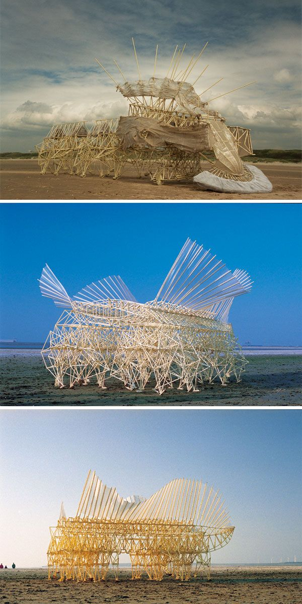 Kinetic walking sculptures...how would you like to see this creeping down the beach?
