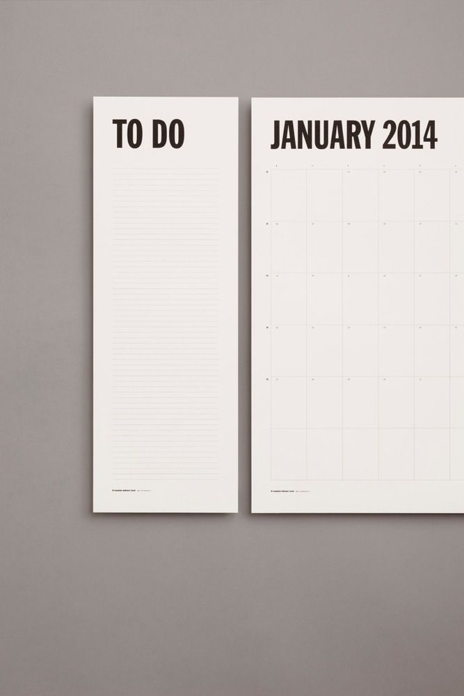 Image of Wall Planner 2014 | calendar with to do list sheets