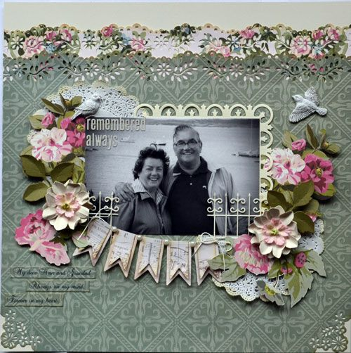 Scrapbook Layout using @Anna Griffin, Inc. Scrapbook.com: Camilla Collection