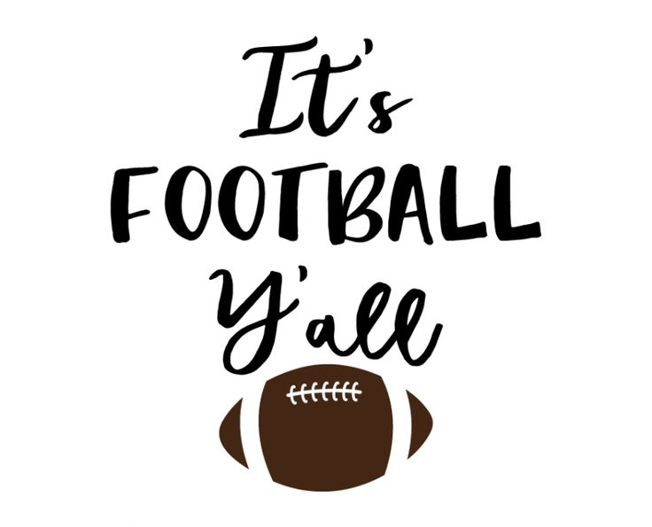 Free SVG cut files - It's Football Y'all