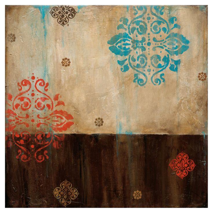 Art Effects Damask Patterns Canvas Wall Art - L12688