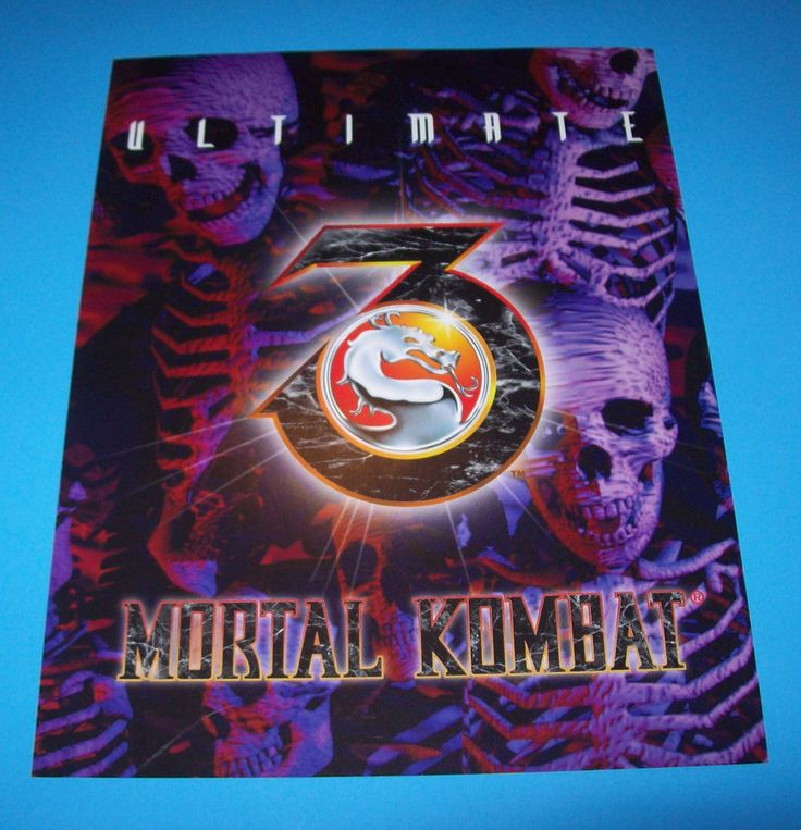 Midway ULTIMATE MK3 Mortal Kombat 3 NOS Original Video Arcade Game Promo Flyer #Midway
