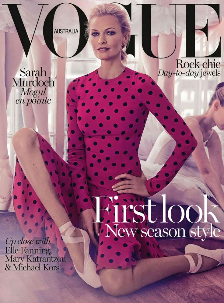 nice Vogue Austrália Agosto 2014 | Sarah Murdoch  [Capa]