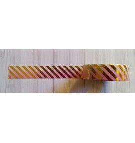 masking tape fines diagonales foil or fond dégradé rose - Simply Graphic