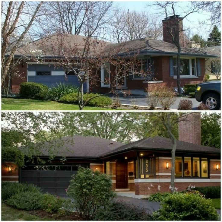 Home Exteriors Before And After Style Cool Best 25 Ranch House Remodel Ideas On Pinterest  Diy Exterior . Design Ideas
