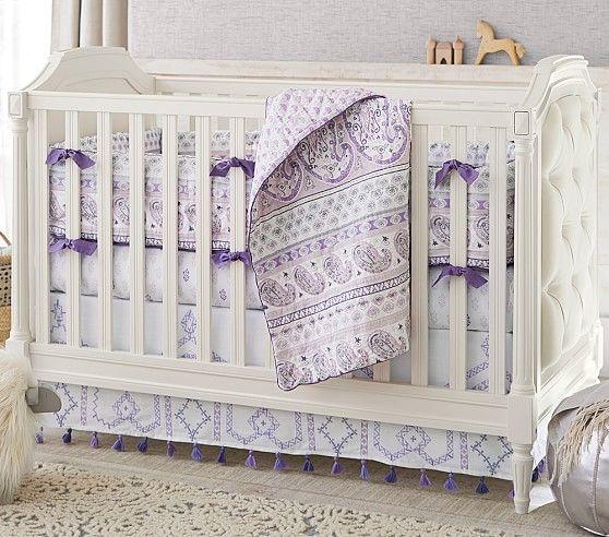 Purple Paisley Bedding Sets : Kiera Paisley Nursery Bedding Sets Pottery Barn Kids