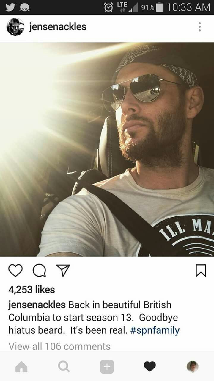 So sexy with the beard. Hate to see it go :/