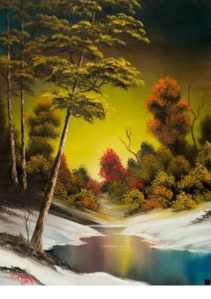 What Are Bob Ross Paintings Worth : paintings, worth, Follow, Information, Landscape, Painting., Simply, Click, Enjoy, Website!!!, Paintings,, Ross,