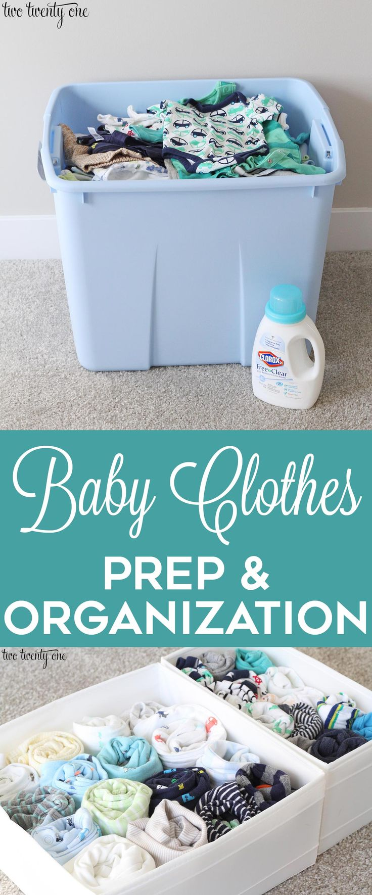 Baby clothes prep and organization! Tips and tricks for cleaning previously-worn...
