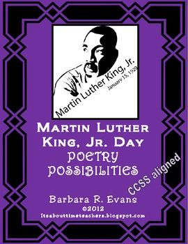 Poetry Possibilities for MLK Day product from It's About Time, Teachers!  FREE!    #CCSS #ELA #MLK #poetry #BarbEvans #itsabouttimeteachers