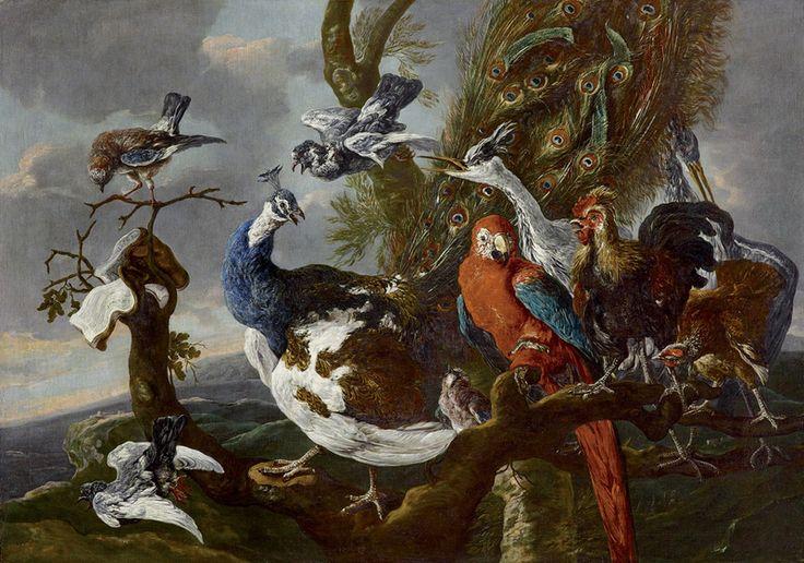 Ян Фейт. Птичий концерт. 1658. Холст, масло. ЛИХТЕНШТЕЙН. Княжеские собрания, Вадуц — Вена