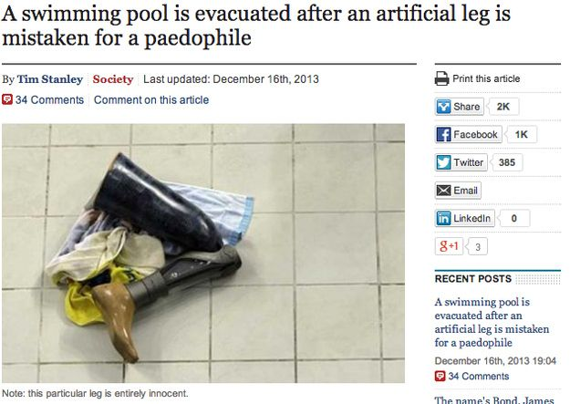 """Hey let's go swimming! Oh, maybe not."" 