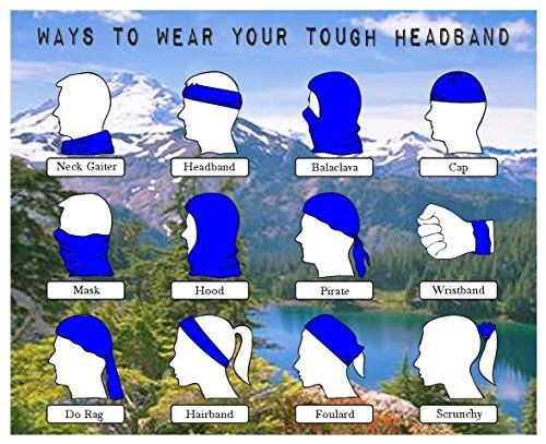 Nature Water Trees Beach Fashionable Outdoor Hundred Change Headscarf Original Multifunctional Headwear